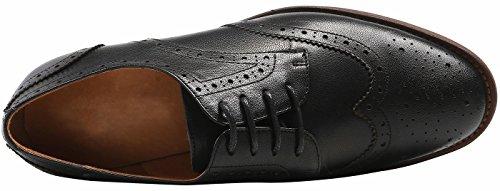 Oxfords Shoes Women's Wingtip Leather Black Color Vintage lite U 2 Pure Flat Perforated Oxford up Lace vwO4Sq