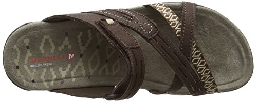 Merrell Terran Weave Ii, Chanclas Mujer Marrón (Dark Earth)