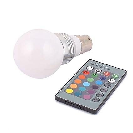 Bombilla Adaptador B22 eDealMax decoración bola de luz de la lámpara LED RGB 5W AC85V-