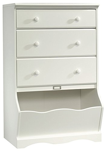 "Sauder 414434 Pogo 3-Drawer Chest L: 30.08"" x W: 19.37"" x H: 47.01"" Soft White"