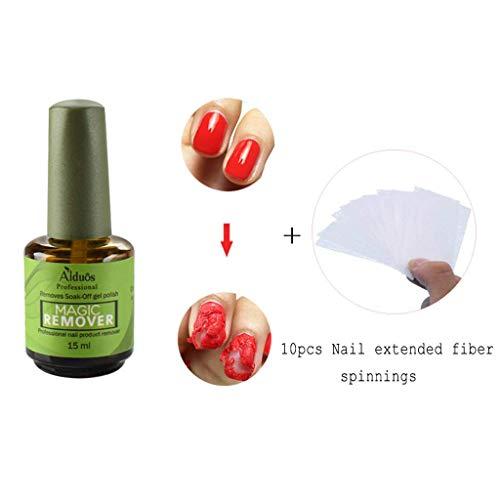 MChoice❤️Magic Nail Polish Remover 15ml Removes Gel Polish Easily & Quickly Green