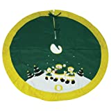 Oregon Ducks Snowman Christmas Tree Skirt