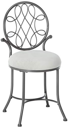 Hillsdale O Malley Vanity Stool, Gray