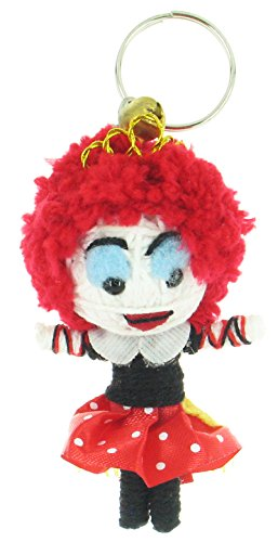 [Red Queen Alice in Wonderland Voodoo String Doll Keyring Keychain] (Voodoo Doll Costume Child)