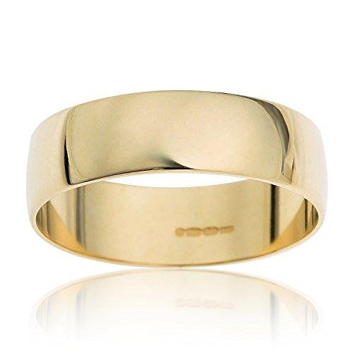 Yellow Wedding Ring 9ct Gold Kareco D Shape 4mm qgvwxwz
