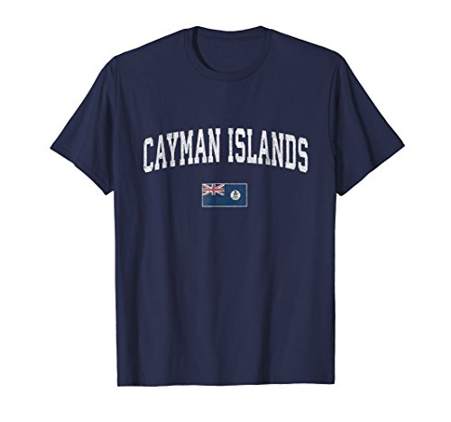 (Cayman Islands T-Shirt Vintage Sports Design Caymans Tee)