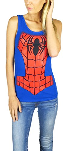 spider-man+tank+tops Products : Marvel Spiderman Juniors Tank Top Blue