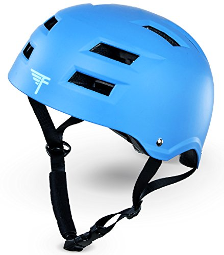 Flybar Protective Multi-Sport Adjustable Helmet with 12 Wide Vents (True Blue, Large / X-Large)