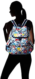 LeSportsac Voyager Back pack, Ocean Blooms Navy, One Size