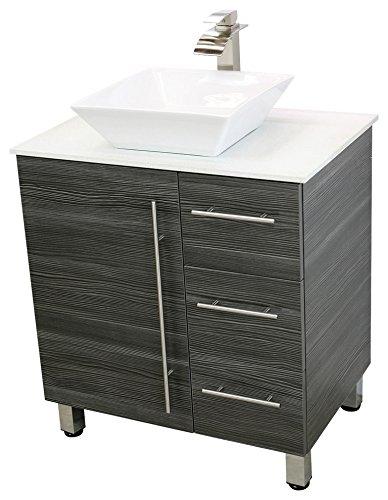 WindBay Free Standing Bathroom Vanity Sink Set Vanities Sink - 30 grey bathroom vanity
