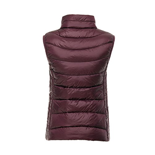 amp;Jane Collapsible Red 90 White Ultralight Outdoor Women's Down Light Duck Gilet Wine Gilet Down Harson qT4fndq