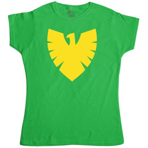 [Womens Superhero T Shirt - Phoenix Symbol - Irish Green - Medium (10-12)] (Women X Men Costumes)