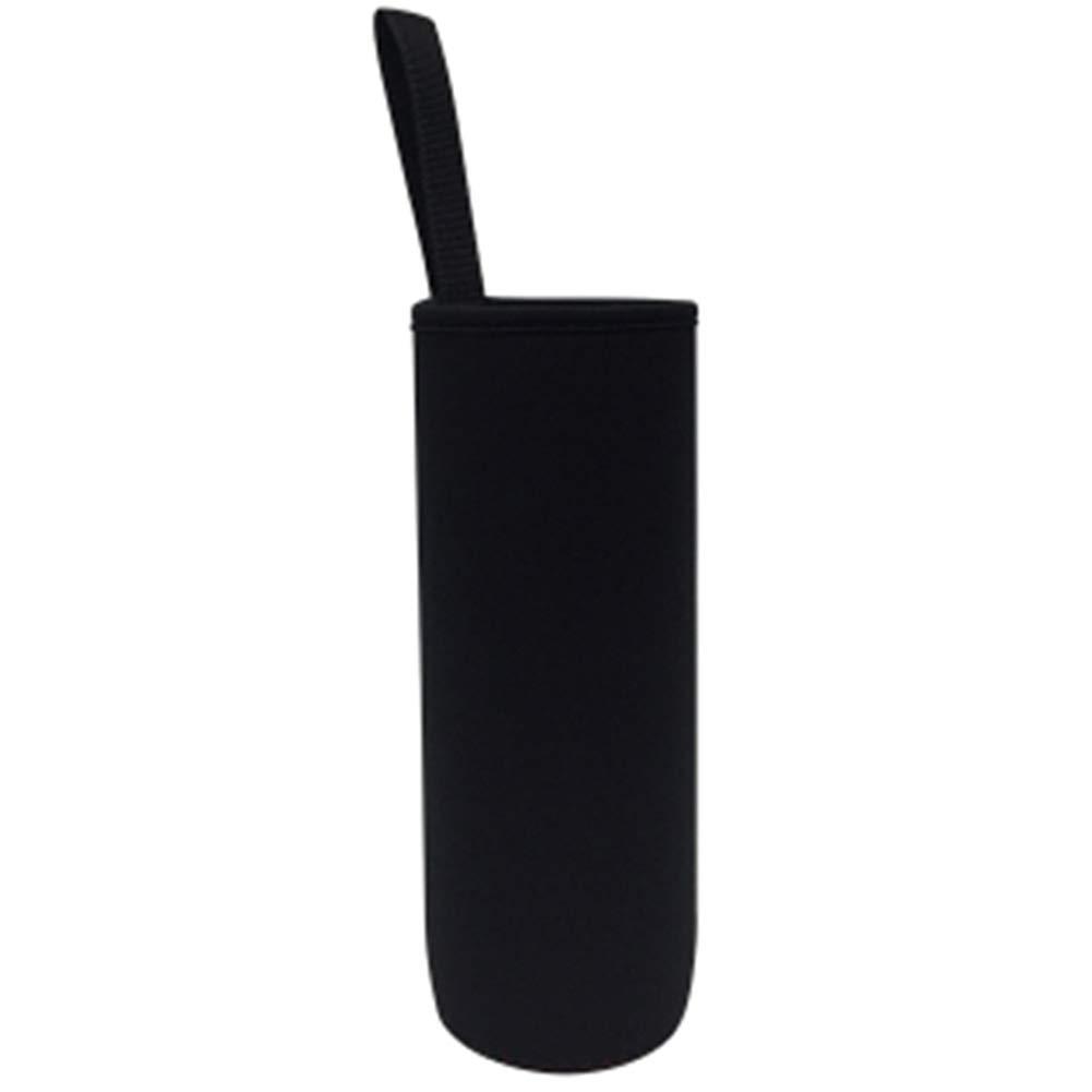 Rocita Wasserflasche Sleeve Isolierglas Trinkflasche Cover Black 1Pc