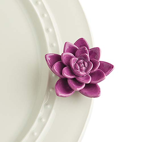 Nora Fleming Hand-Painted Mini: Get Growing! (Purple Flower) A243