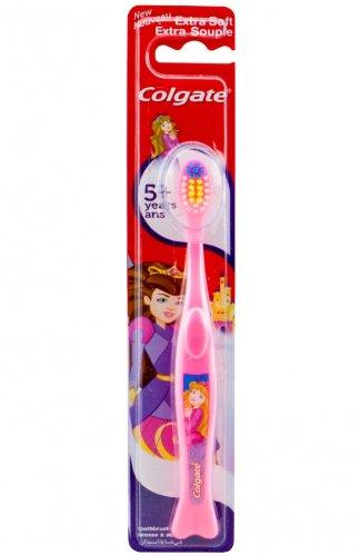 Colgate Cepillo de dientes Kids 5 + extra soft, diseño princesa, rosa (Y40