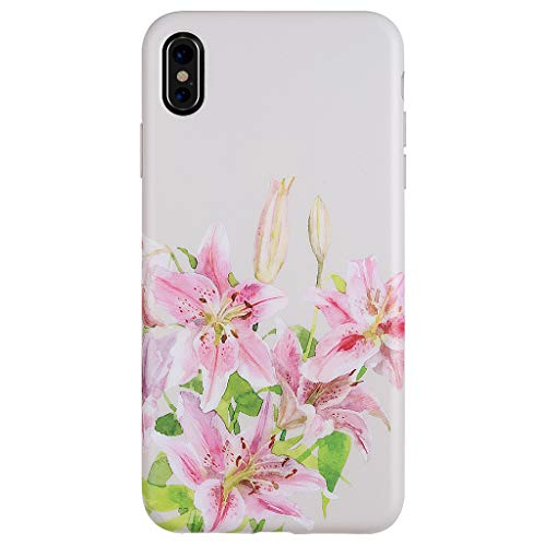 iPhone Xs MAX Case,GOLINK Matte Finish Cute Series Slim-Fit Ultra-Thin Anti-Scratch Shock Proof Dust Proof Anti-Finger Print TPU Gel Case for iPhone Xs MAX 6.5 inch(Lily)