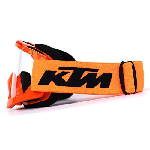(Amaskyline Motorcycle Goggles Dirt Bike ATV Motocross Goggles Glasses Eyewear and Ski Snowborading Transparent Lens)