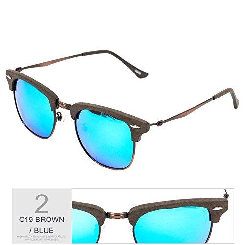 BLUE Mano Gafas De De Tendencia De De Gafas Sol Haciendo En BROWN Gafas Madera Moda Negro Sol Polarizadas Unisex Gafas Naranja Sol De Retro Metal TIANLIANG04 Hx4wO5qq