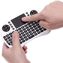 Mini Teclado Mouse Touchpad Wireless Wifi I8 Tv Box Usb Pc Ps3 Xbox Preto
