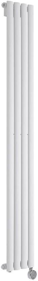 Milano Radiador de Diseño Eléctrico Vertical - Blanco - 1600mm x 236mm x 56mm - Revive