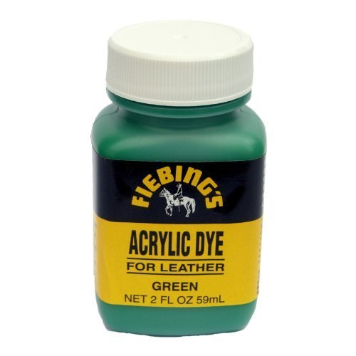 Fiebing's Acrylic Leather Dye - 2 Ounces, Green 2 Ounce Dauber