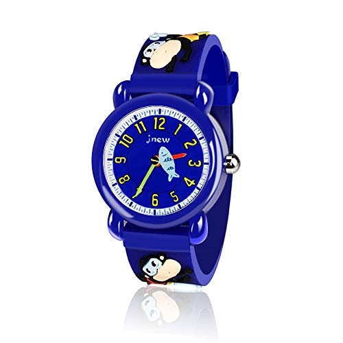 un Top for 3-10 Year Old Boys, 3D Cute Cartoon Kids Waterproof Watch 3-12 Year Old Boys Gifts Monkey Stocking Fillers OWUSWC005 ()