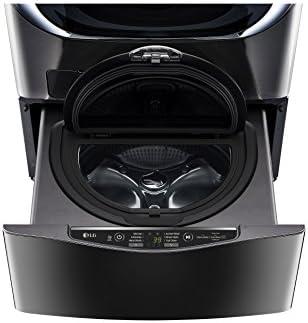 LG 1.0 Cu Ft Black Stainless Steel SideKick Pedestal Washer