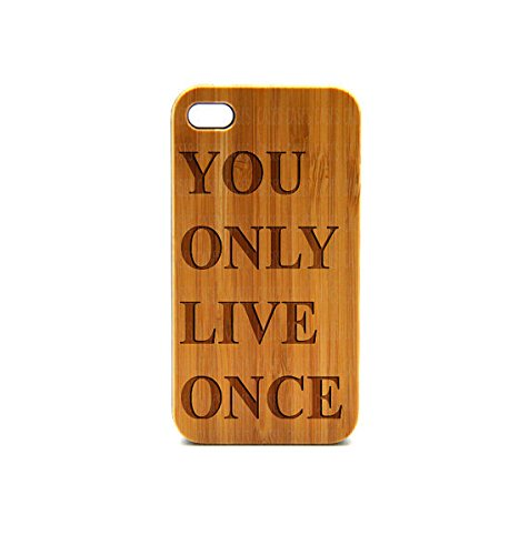 Krezy Case Real Wood iPhone 6 Case, you only live once iPhone 6 Case, Wood iPhone 6 Case, Wood iPhone Case,