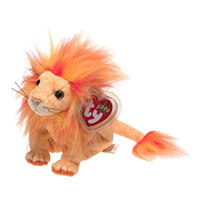 BEANIE BABIES Ty Bushy The Lion: Toys & Games