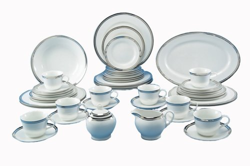 Royal Doulton Pure Platinum 45-Piece Dinnerware Set, Service for 8