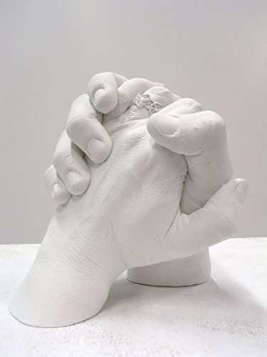 Memoria DIY 3D Plaster Statue Casting Kit: Anniversary Hands, Praying Hands, Wedding Hands, Mother/Daughter Hands, Baby Hands etc.