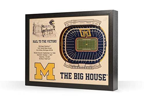 - NCAA Michigan Wolverines 25-Layer Stadiumviews 3D Wall Art