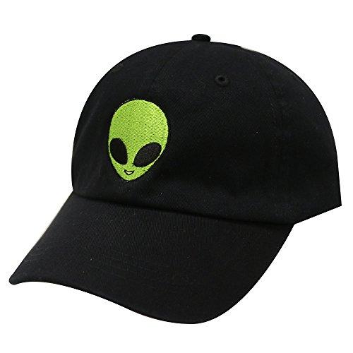 Alien Hat (City Hunter C104 Big Alien Cotton Baseball Dad Caps 14 Colors (Black))