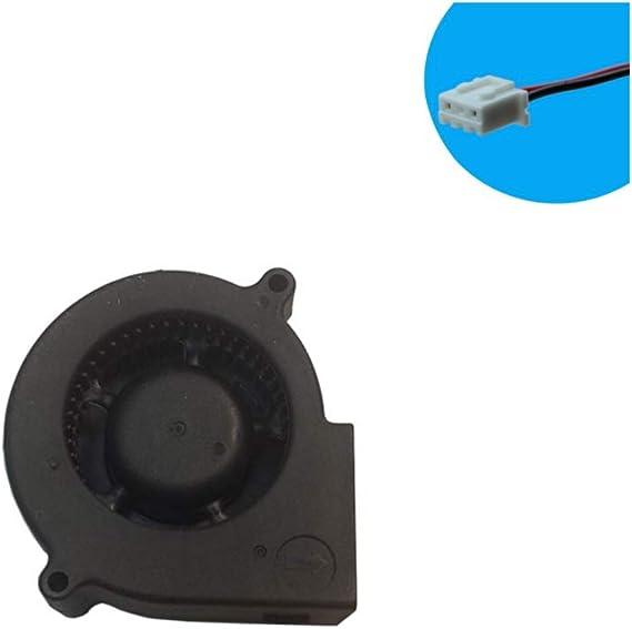 Fugetek 12V DC Brushless Blower Cooling Fan HT-07530D12 Multi Use US Support Black Computer Fan 2pin 75x75x30mm Dual Ball Bearing