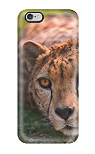 Scott Duane knutson's Shop 3231478K31221620 For Iphone Protective Case, High Quality For Iphone 6 Plus Cheetah Lying Skin Case Cover