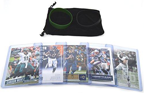 Philadelphia Eagles Football Card - Philadelphia Eagles Cards: Carson Wentz, Nick Foles, Alshon Jeffery, LeGarrette Blount, Zach Ertz ASSORTED Trading Cards and Wristbands Bundle