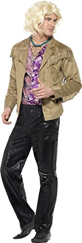 Smiffy's Men's Zoolander Hansel Costume With Trousers, Jacket With Attached (Zoolander Hansel)