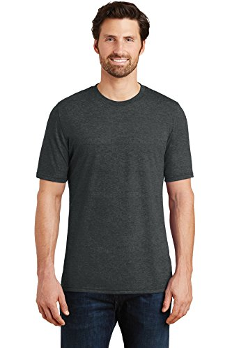 District Made Men's Perfect Tri Crew Tee DM130 Black Frost XL from District Made