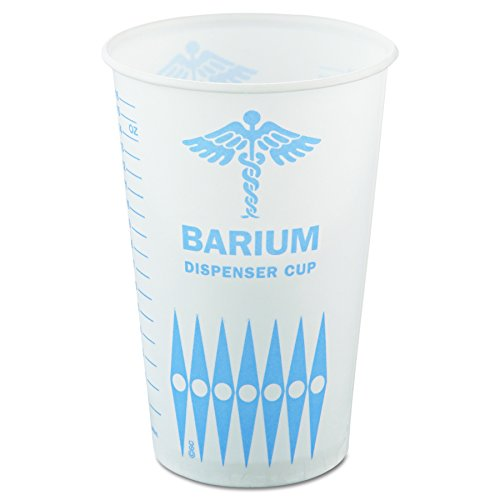 Solo RW16-5482 16/18 oz Barium Medical Waxed Paper Cup (Case of 1000)