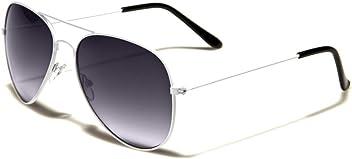 b0570157cc0 Mirozi Unisex Classic White Frame Grey Lens Aviator 51MM Sunglasses