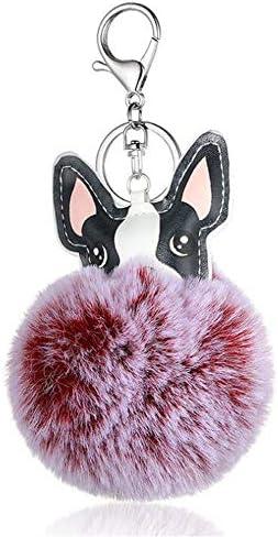 レディースキーホルダー・チャーム 美しい女性のバッグぶら下げカーペンダント子犬ヘアボールジュエリーアクセサリー 可愛い 飾り プレゼント