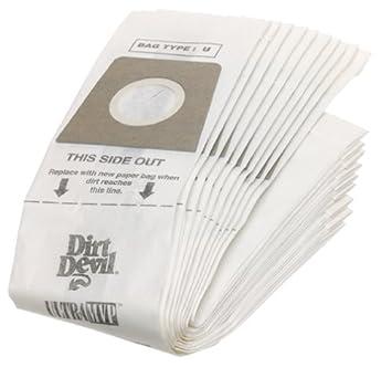 Amazon.com: Dirt Devil bolsas para aspiradoras tipo U ...