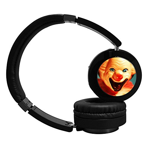 Clown Scare Bluetooth Headphones Over Ear Wireless Dual Mode Hi-Fi Stereo Headset with Microphone Foldable Noise Canceling