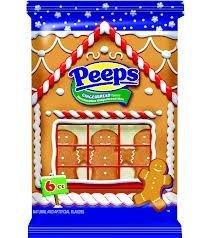 Gingerbread Flavored Marshmallow Peeps Gingerbread Men 6ct