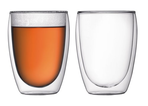Top Dia Glass (Bodum Pavina Double Wall 12 Ounce Cooler Glass, Set of 2)