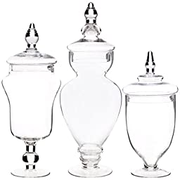 Home Essentials & Beyond 3126 1244;1544; 16 in. Apothocary Jars