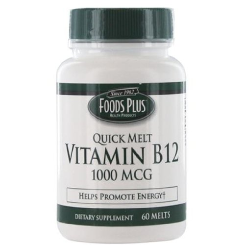 Cheap Vitamin B-12 1000 Mcg Sublingual Quick Melts By Food Plus, 60 Tablets