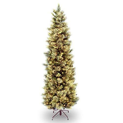 - National Tree 7.5 Foot Carolina Pine Slim Tree,