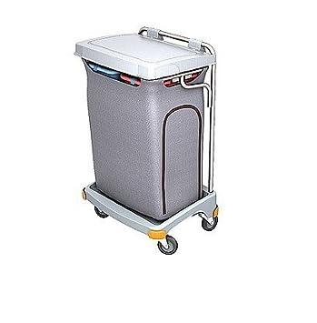 Splast Gris Dos Compartimento de Basura Carro de plástico 2 x 70L - Tapa es Opcional, con Tapa: Amazon.es: Hogar