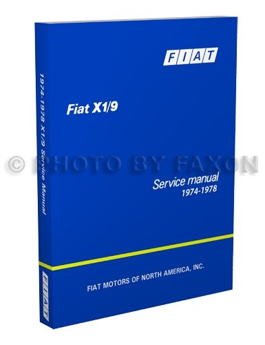 1974-1978 Fiat X1/9 Factory Repair Shop Manual Reprint for sale  Delivered anywhere in USA